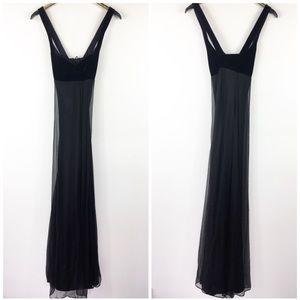 Black Silk Formal Velvet Laundry by Shelli Segal 6